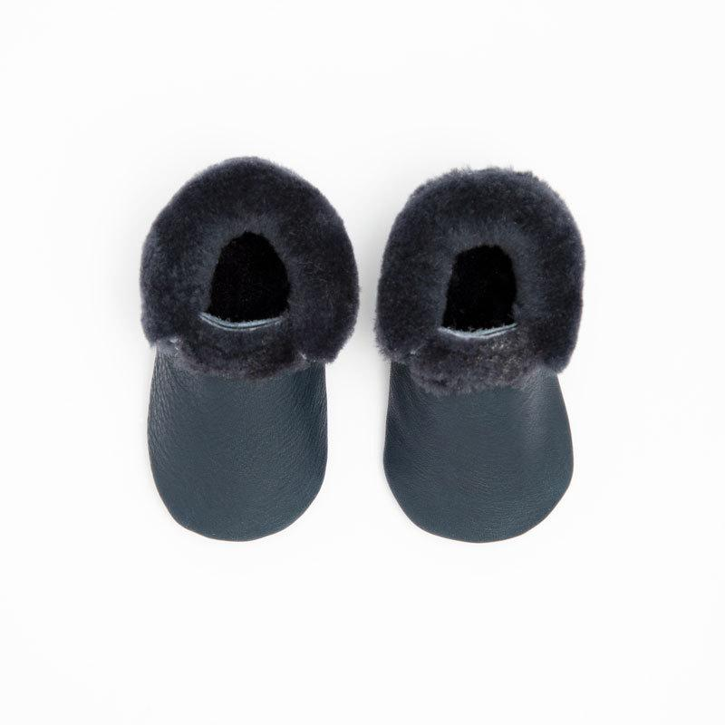 Navy with Navy Shearling Mini Sole Mini Sole Shearling Mocc mini soles