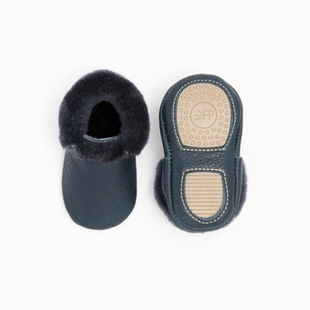 Navy with Navy Shearling Mini Sole