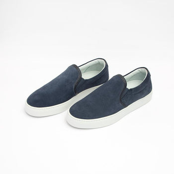 Women's Navy Slip-On Sneaker Women's - Slip-On Women's Sneakers
