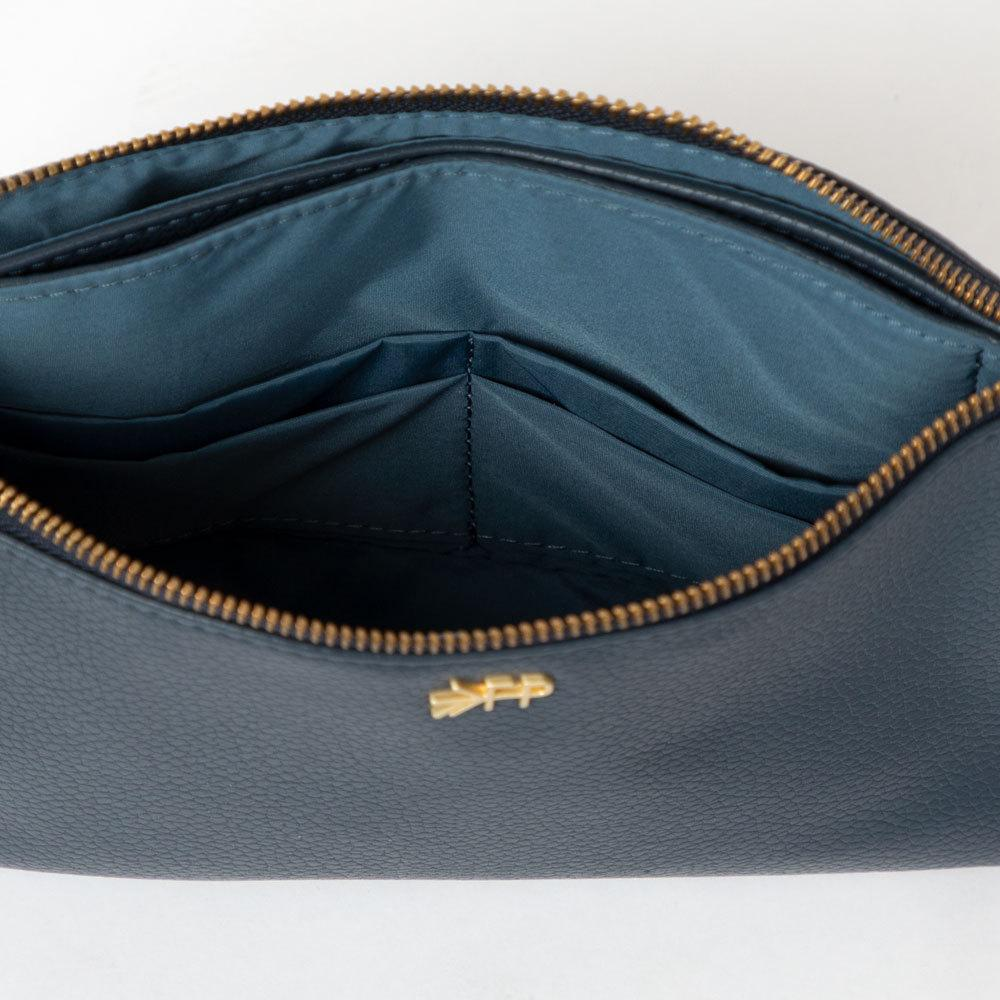 Navy Classic Zip Pouch Bags Bags