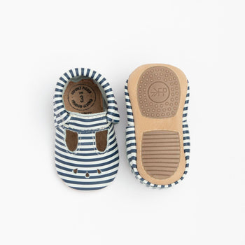 Navy and White Stripes Mary Jane Mini Sole