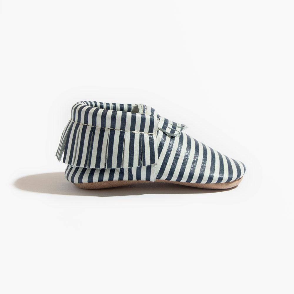 Navy and White Stripes Mini Sole Mini Sole Mocc Mini soles