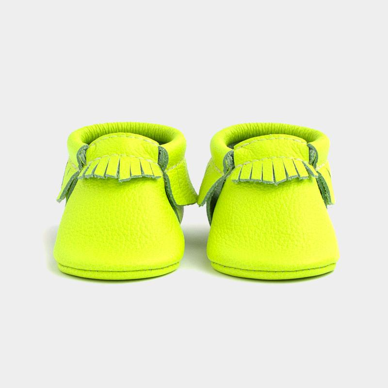 Neon Green | Pre-Order Moccasins Soft Soles