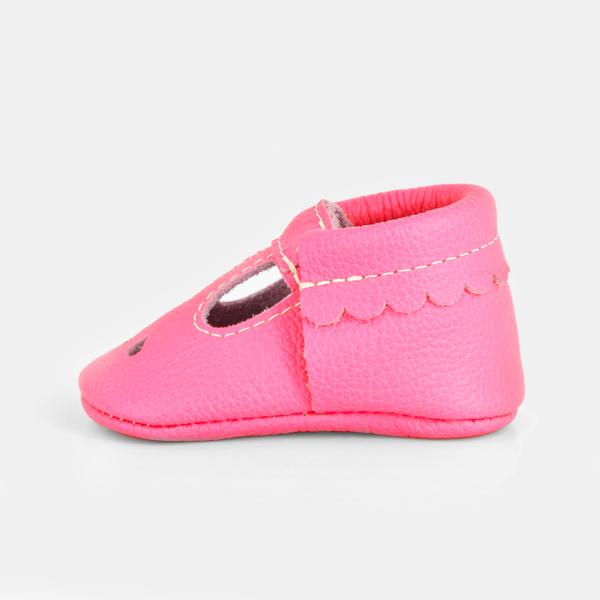 Neon Pink Mary Jane Mary Janes Soft Soles