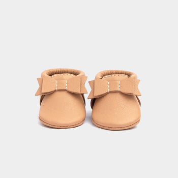 Newborn Toasted Almond Bow Mocc newborn Soft Soles