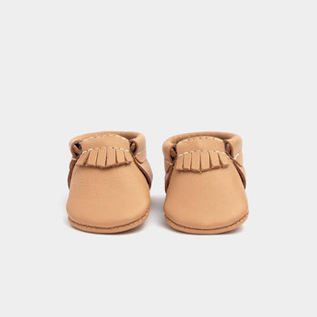 Newborn Toasted Almond City Mocc newborn Soft Soles