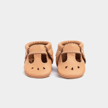Newborn Toasted Almond Mary Jane newborn Soft Soles