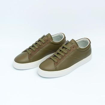 Women's Olive Classic Lace-Up Sneaker Women's - Lace-Up Women's Sneakers