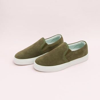 Women's Olive Slip-On Sneaker Women's - Slip-On Women's Sneakers