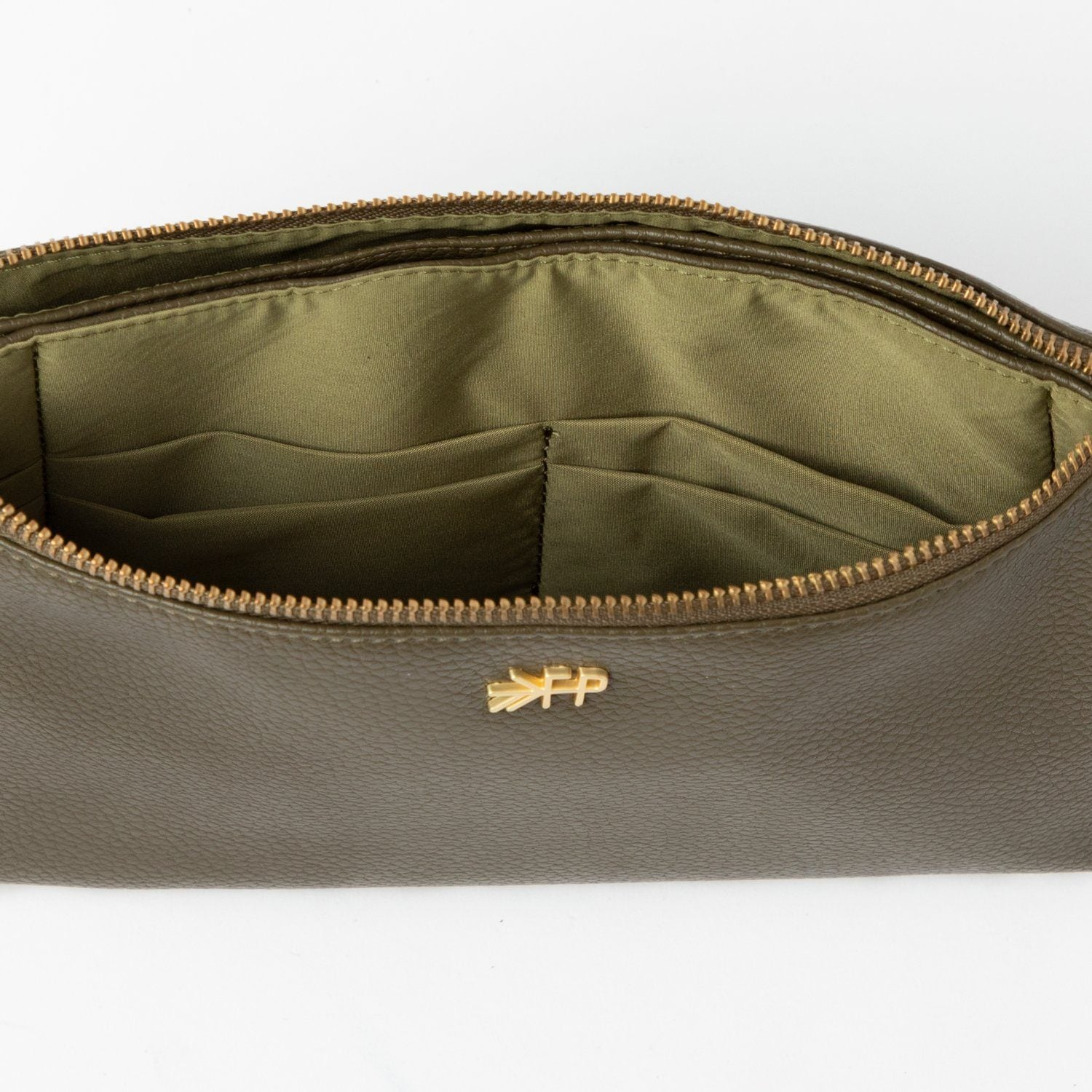 Olive Classic Zip Pouch Classic Zip Pouch Bags