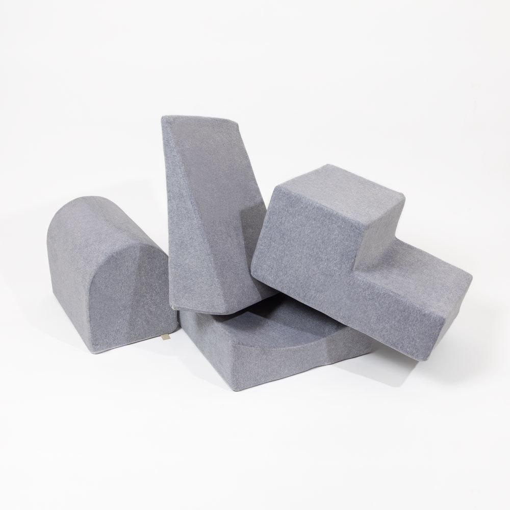 Grey Play Set Play Block Play