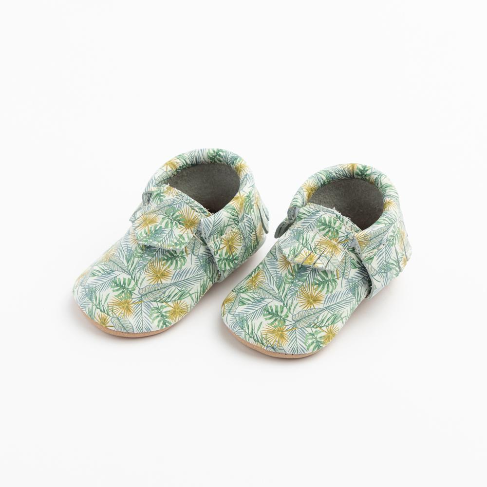 Palm Fronds Moccasins Soft Soles
