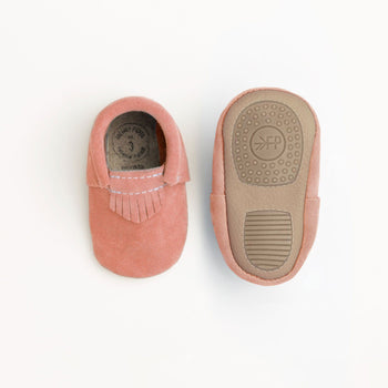 Peachy Pink Suede Mini Sole