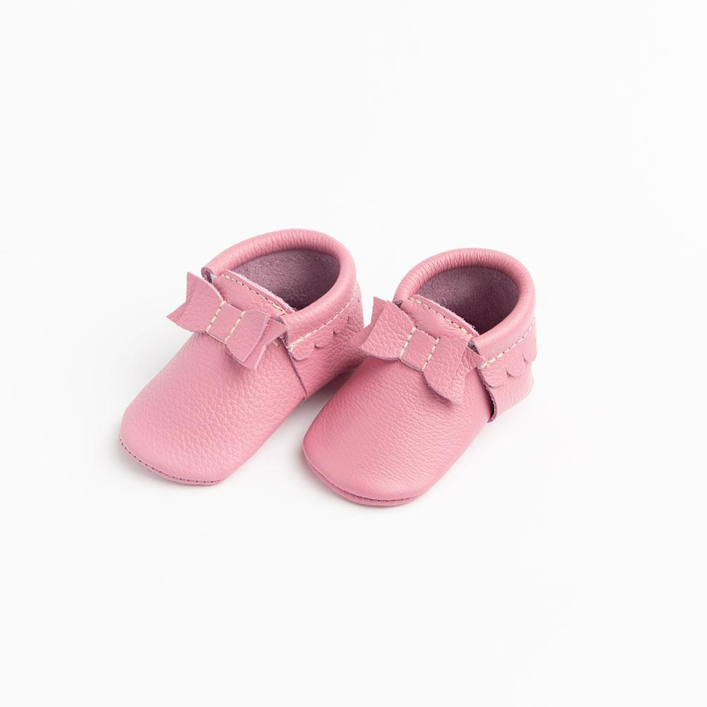 Peony Bow Mocc Mini Sole Bow Moccasins mini soles