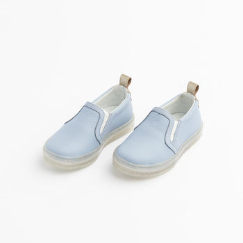 Periwinkle with Glitter Sole Slip-On Sneaker