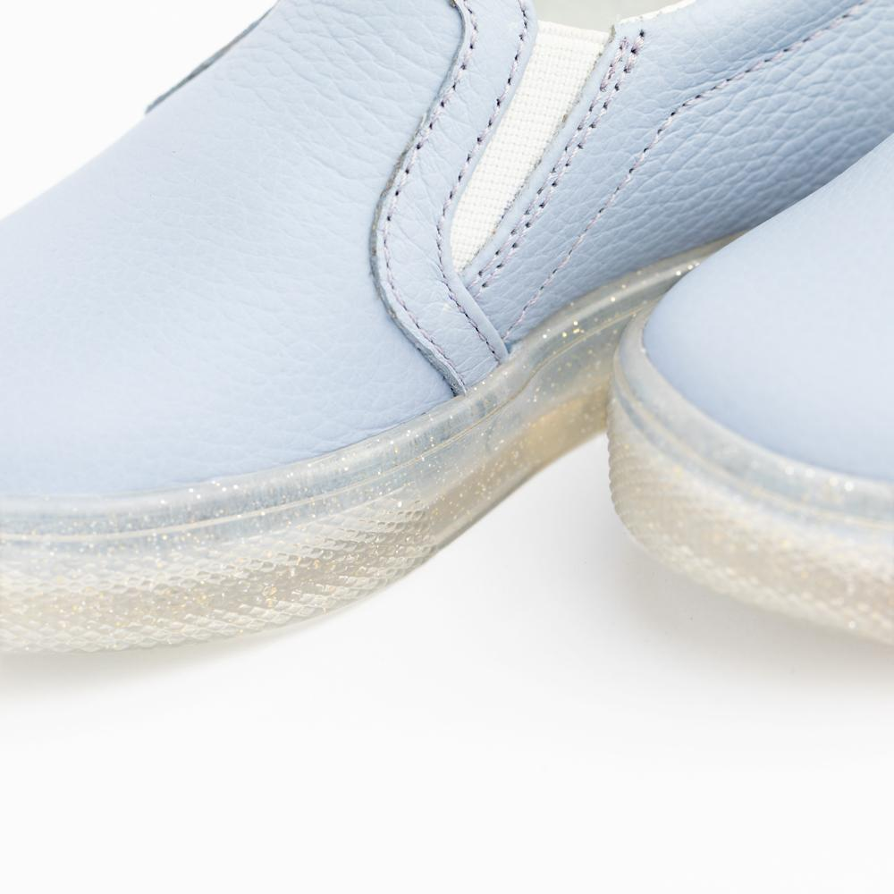 Periwinkle with Glitter Sole Slip-On Sneaker Kids - Slip-On Sneaker Kids Sneakers