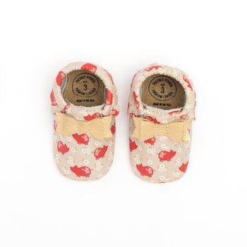 Piggy Pig Pig Mini Sole Bow Mocc Mini Sole Bow Moccasin Mini soles