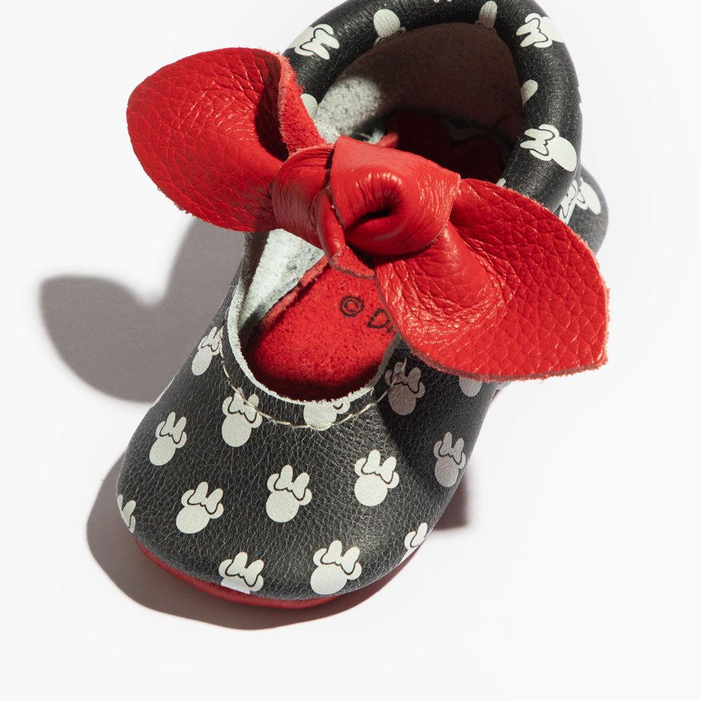 Newborn Polka Dot Minnie Knotted Bow Mocc Knotted Bow Mocc Newborn