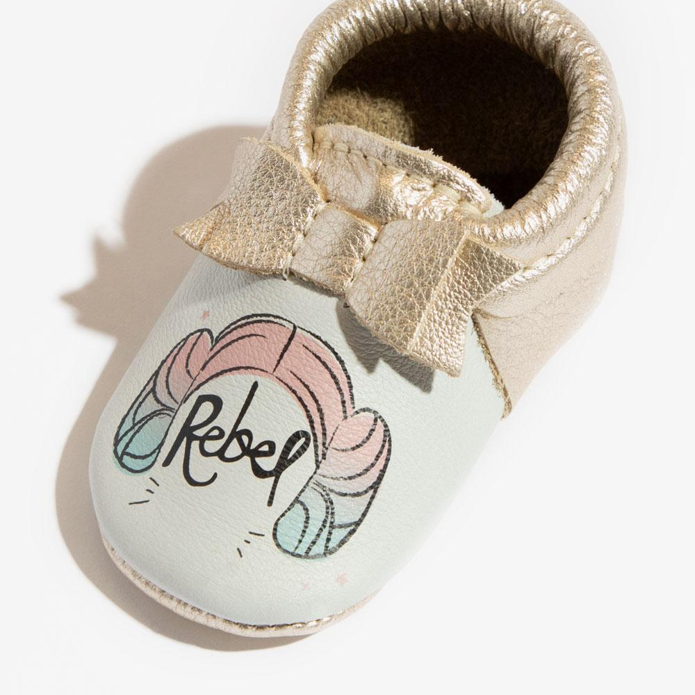 Princess Leia Bow Mocc Mini sole Mini Sole Bow Moccasin mini soles