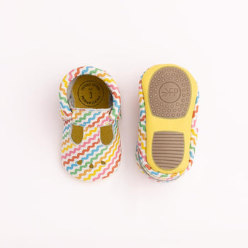 Rainbow Ric Rac Mary Jane Mini Sole