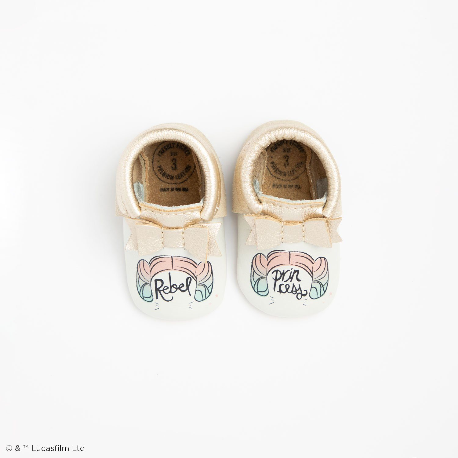 Rebel Princess Bow Mocc Bow Moccasins Soft Soles
