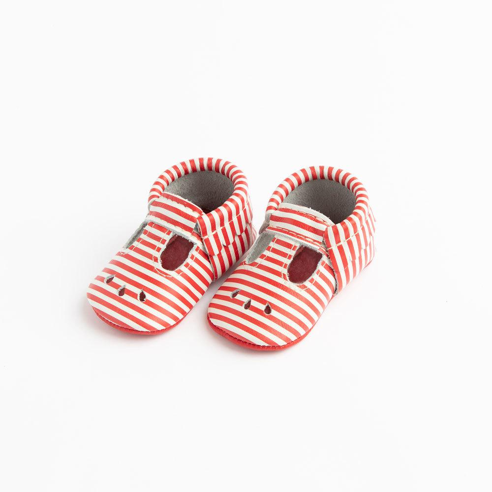 Red Candy Stripe Mary Jane Mary Janes Soft Soles