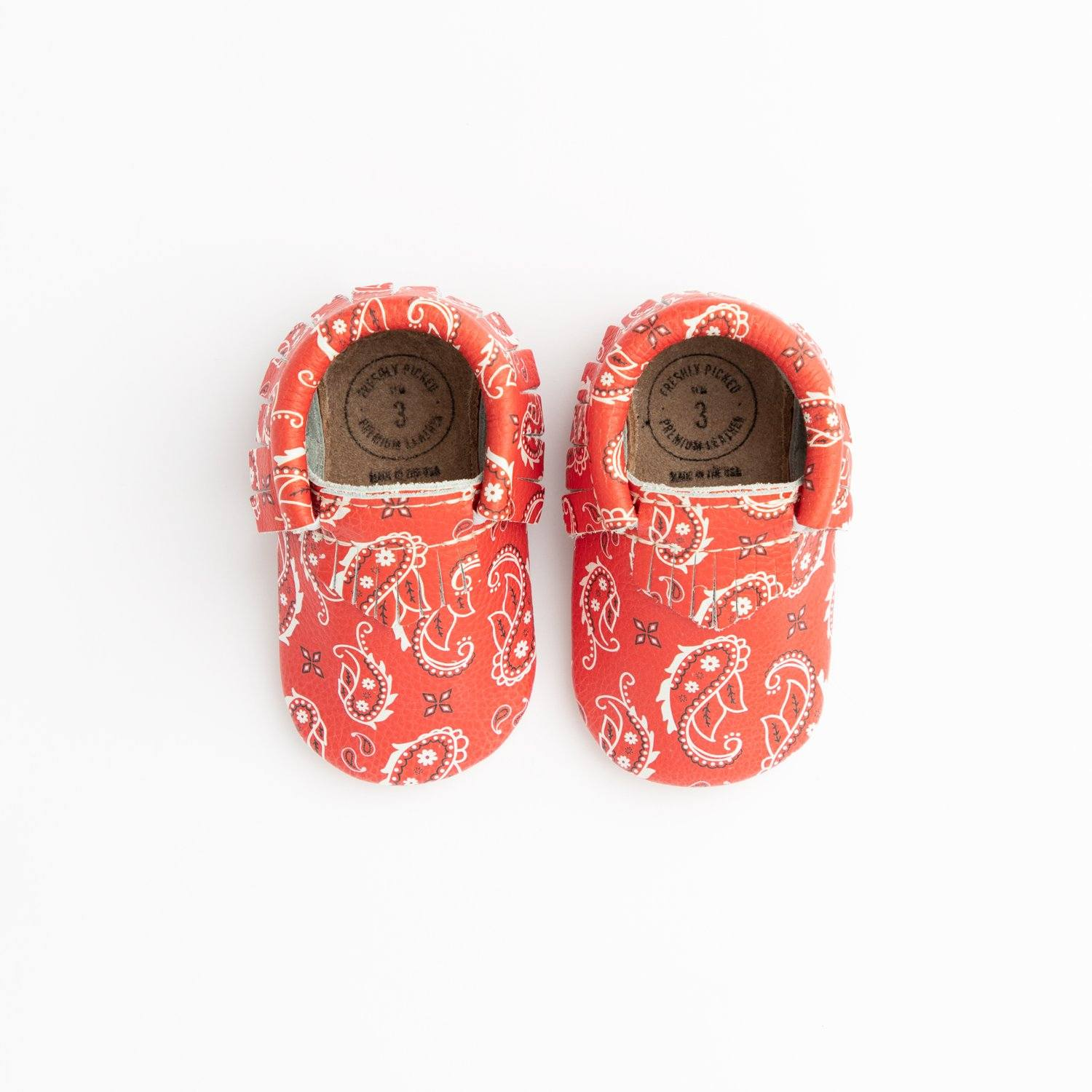 Red Bandana Mini Sole Mini Sole Mocc Mini soles