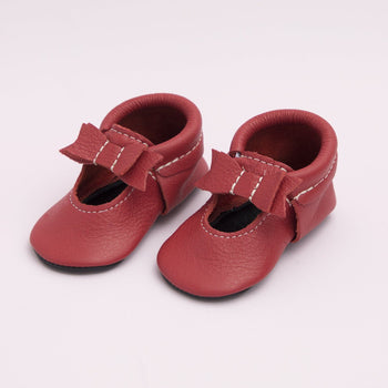 Red Ballet Flat Bow Mocc