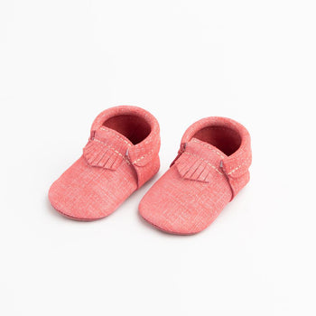 Red Denim City Mocc City Moccs Soft Soles