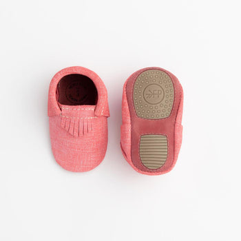 Red Denim City Mocc Mini Sole