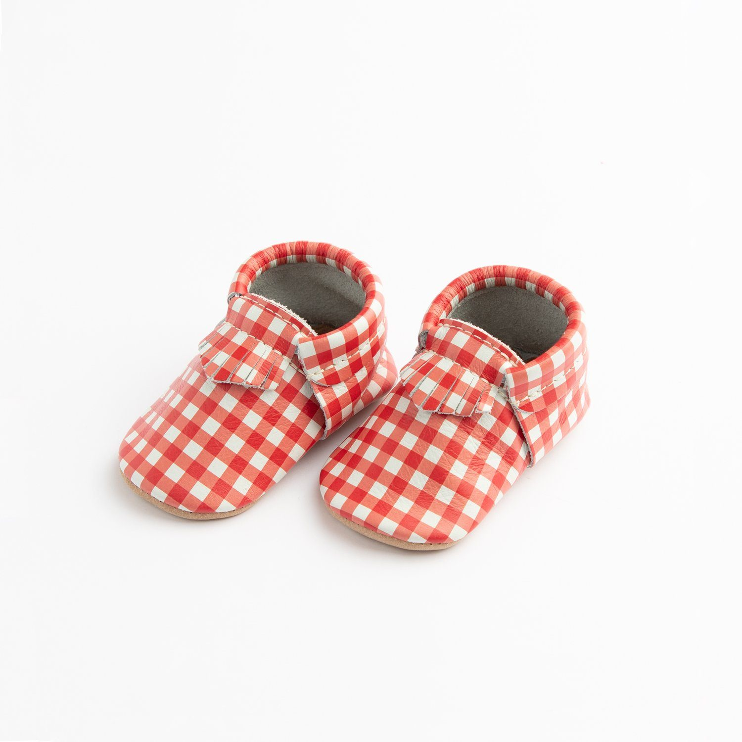 Red Gingham City Mocc City Moccs Soft Soles