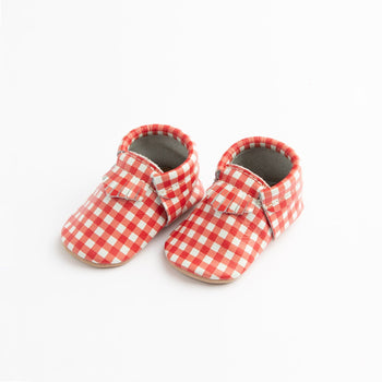 Red Gingham City Mocc