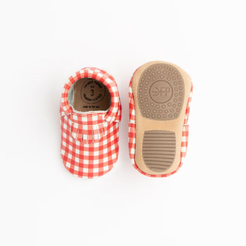 Red Gingham City Mocc Mini Sole