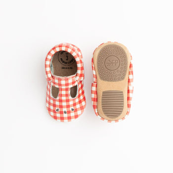 Red Gingham Mary Jane Mini Sole