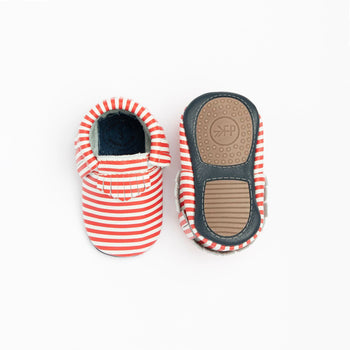 Red and White Stripes Mini Sole