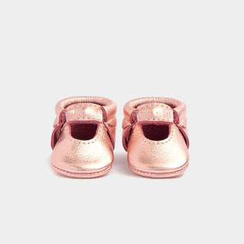 Newborn Rose Gold Ballet Flat newborn Soft Soles