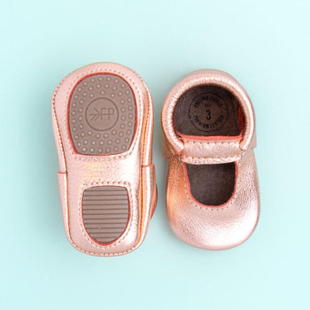 Rose Gold Ballet Flat Mini Sole