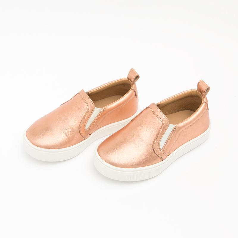 Rose Gold Slip-On Sneaker Kids - Classic Slip-On Sneaker Kids Sneakers