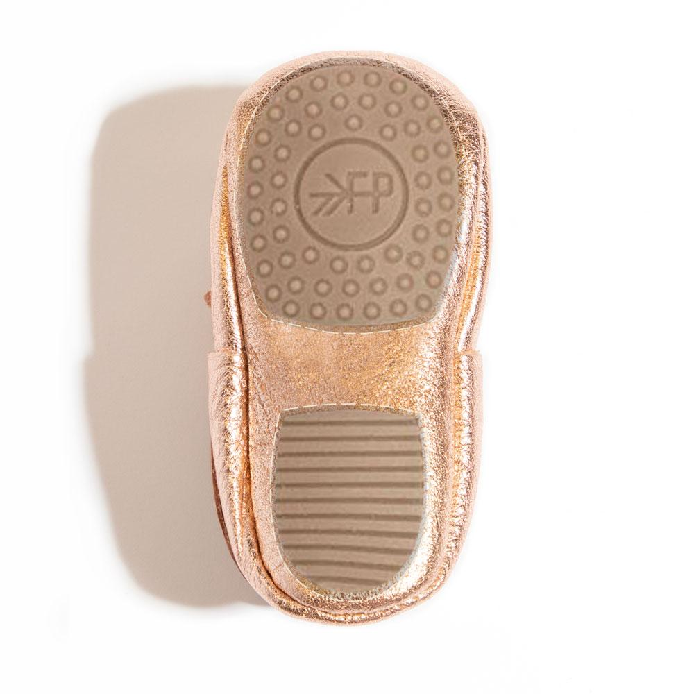 Rose Gold Ballet Flat Bow Mocc Mini Sole Mini Sole Ballet Flat Bow Mocc mini soles