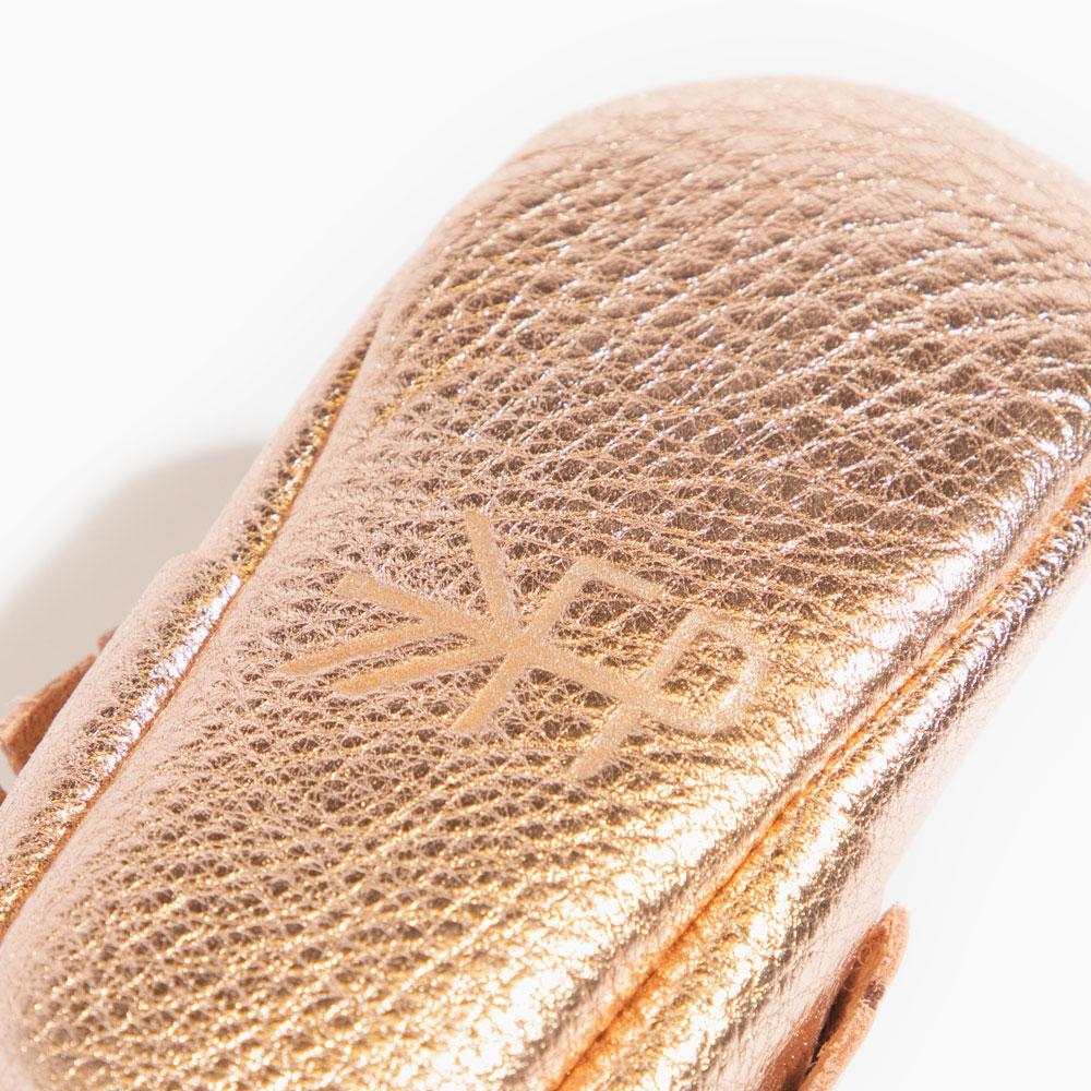Rose Gold Moccasins Soft Soles