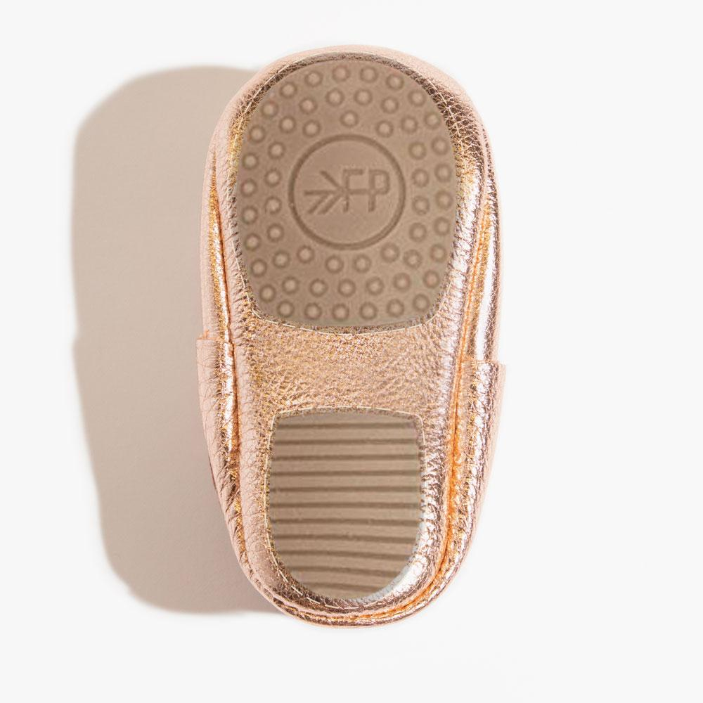 Rose Gold Bow Mocc Mini Sole Mini Sole Bow Moccasin mini soles
