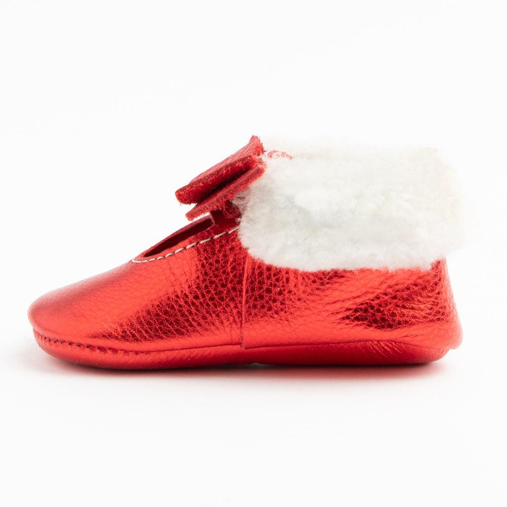 Ruby Shearling Ballet Flat Bow Mocc Mini Sole shearling ballet flat bow mocc mini soles