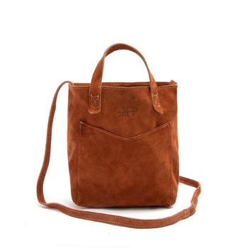 Rust Suede Mini Tote Leather Tote Bags