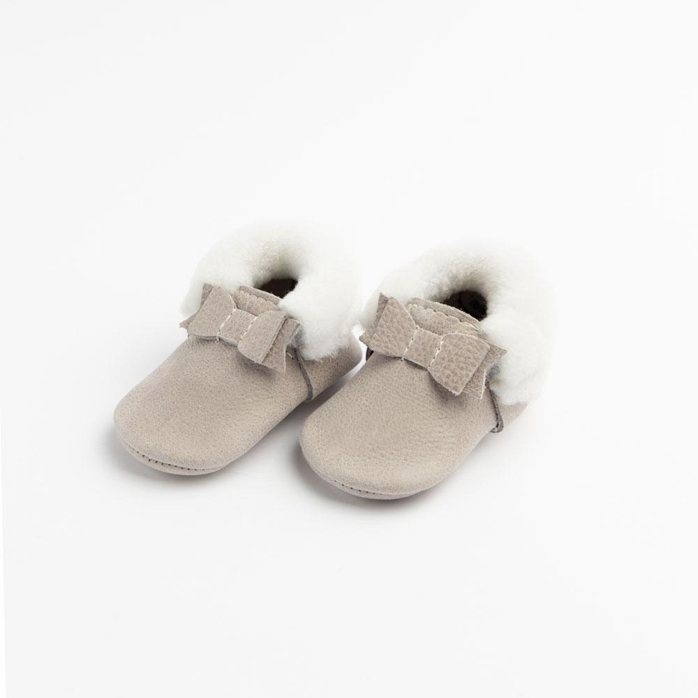 Salt Flats Shearling Bow Mocc Mini Sole Mini Sole Shearling Bow Mocc mini soles