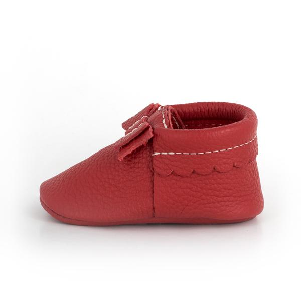Santa Baby Bow Mocc Bow Moccasins Soft Soles