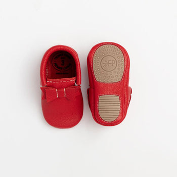 Santa Baby Bow Mocc Mini Sole Mini Sole Bow Moccasin mini soles