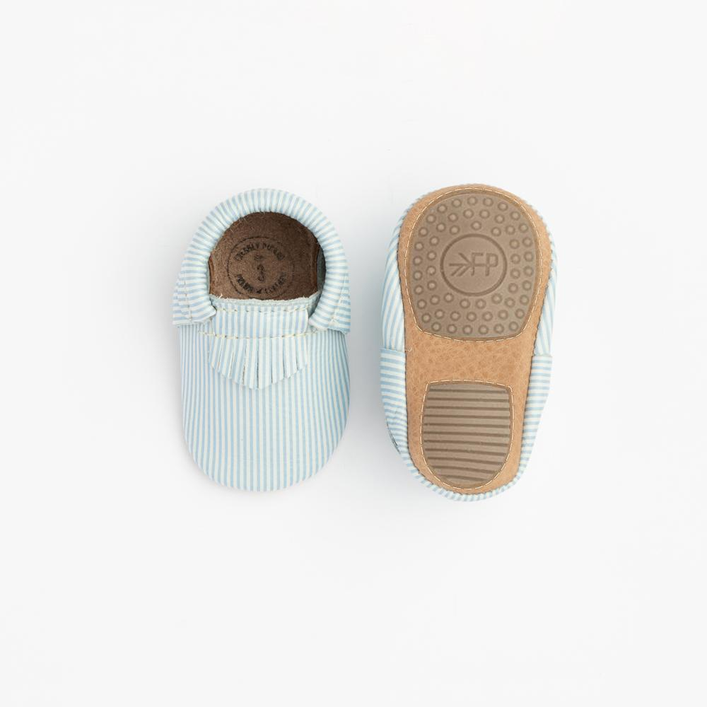Seersucker City Mocc Mini Sole City Moccs mini sole