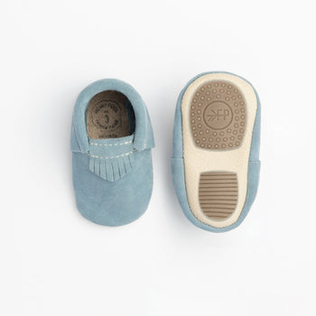 Sky Blue Suede City Mocc Mini Sole