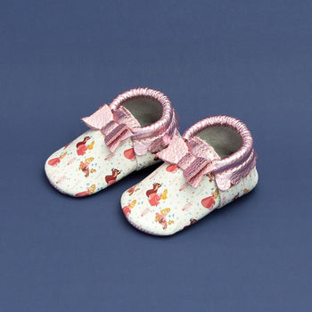 Sleeping Beauty Bow Mocc Bow Moccasins Soft Soles