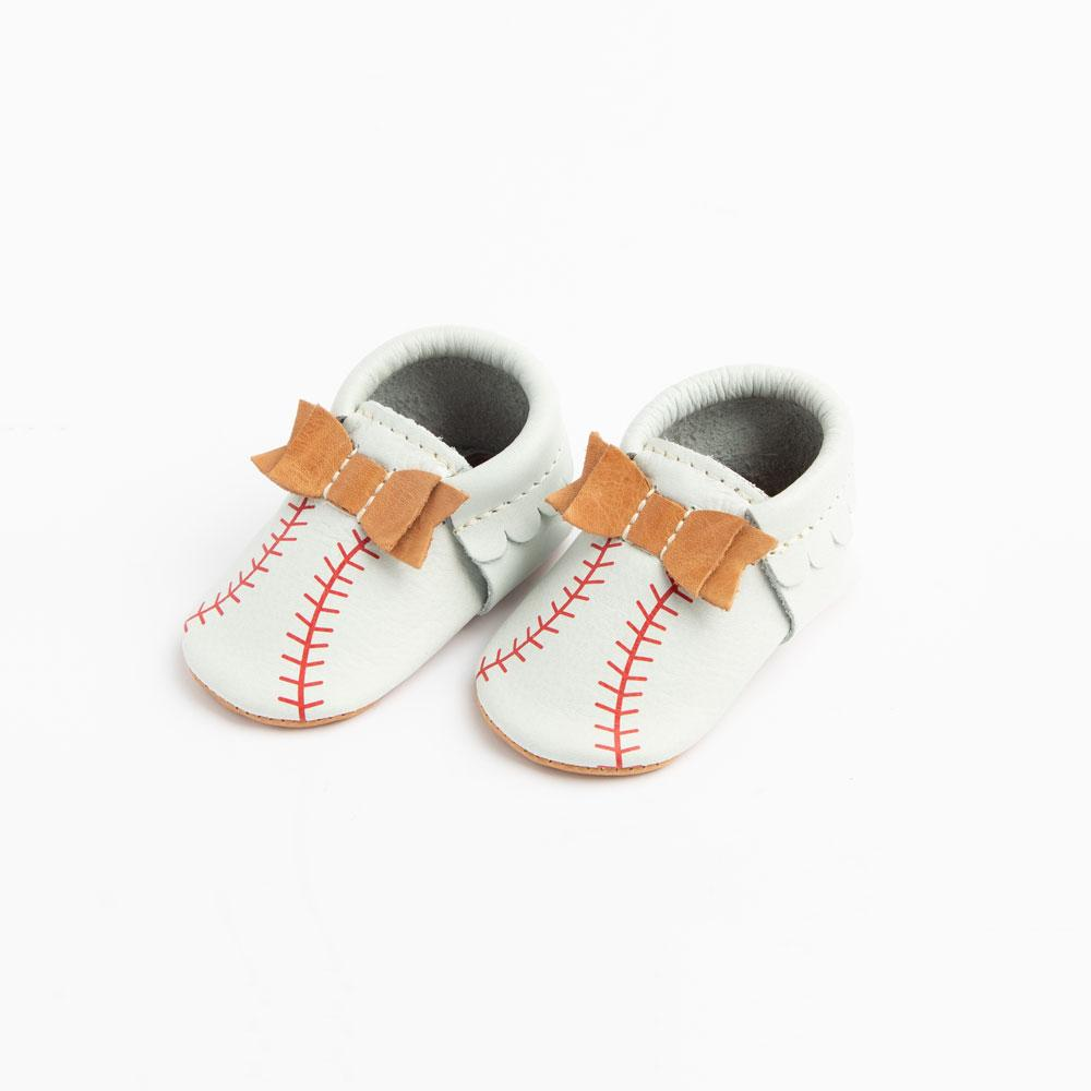 Spring Training Bow Mocc Mini Sole Bow Moccasins Soft Soles